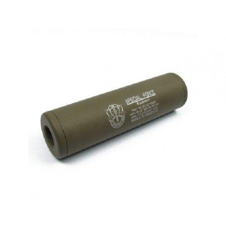 King Arms Silencieux LW 110mm Special Force Desert (King Arms) AC-KASIL0803DE Silencieux & Adaptateur