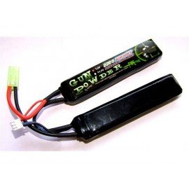 Batterie LiPo 7,4v Double 2200 mAh (GunPowder) AC-GP9222012 Batteries