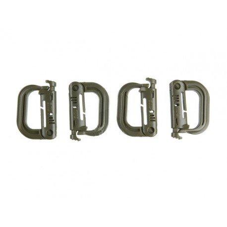 101 INC Grimloc Carabiner (Set de 4pcs) OD (101 Inc) AC-WP259136OD Accessoires
