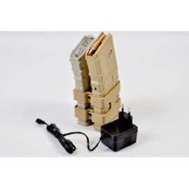 Dble Chargeur M4 PMAG Electrique 800 Billes Desert (JS)