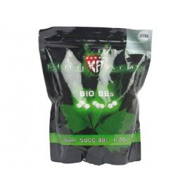 King Arms Sachet 0,20g Bio de 5000 Billes (King Arms) AC-KABB04WH Billes 6mm Bio