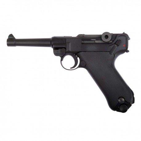 """WE WE Luger P08 4"""" Gaz RE-WEGGB0336TM Répliques WWI / WWII"""