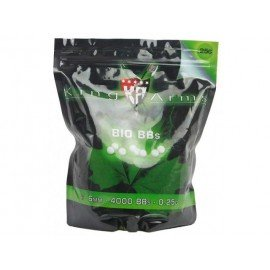 King Arms Sachet 0,25g Bio de 4000 Billes (King Arms) AC-KABB05WH Billes 6mm Bio