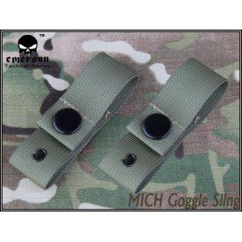 Emerson Sangle Casque / Goggle Strap OD (Emerson) AC-EMEM5670A Casque airsoft