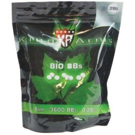King Arms Sachet 0,28g Bio de 3570 Billes (King Arms) AC-KABB06WH Billes 6mm Bio
