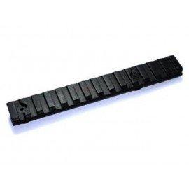 Riel (Set 2 piezas) 120mm Negro