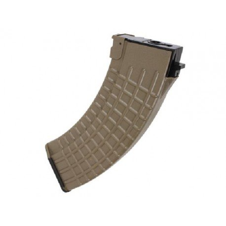King Arms Chargeur AK47 Waffle 600 Billes Desert (King Arms) AC-KAMG14HCDE Chargeurs