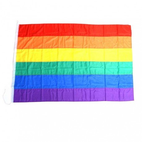 101 INC Drapeau Rainbow 150x100 cm AC-WP447251 Drapeau