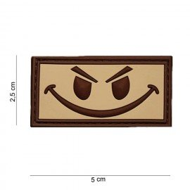 101 INC Patch 3D PVC Evil Smiley Desert (101 Inc) AC-WP4441003501DE Patch en PVC