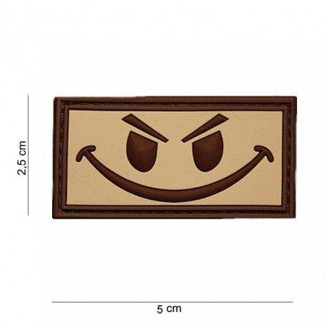 101 INC Patch 3D PVC Evil Smiley Desert (101 Inc) AC-WP4441003501DE Patch en PVC