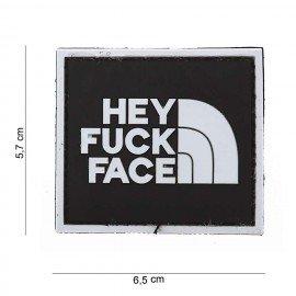 Parche de PVC 3D Hey Fuck Face