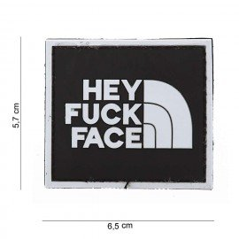 101 INC Patch 3D PVC Hey Fuck Face AC-WP4441003562 Patch en PVC