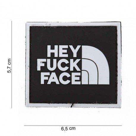 101 INC Patch 3D PVC Hey Fuck Face AC-WP4441003562 Patch en PVC