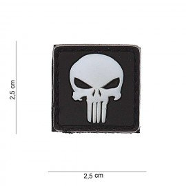 101 INC Patch 3D PVC Punisher Blanc (101 Inc) AC-WP4441203544 Patch en PVC