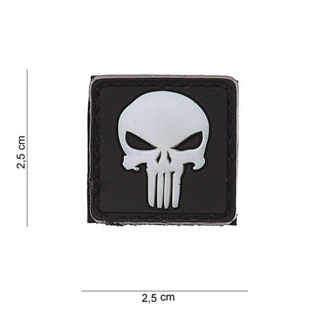 101 INC Patch 3D PVC Punisher Blanc (101 Inc) AC-WP4441203544 Equipements