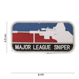 Patch in PVC 3D Major League Sniper (101 Inc)
