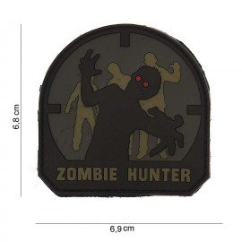 3D Zombie Hunter Arid & Schwarzer PVC-Patch (101 Inc)