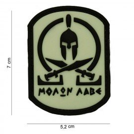 101 INC Patch 3D PVC Molon Labe Spartan Noir & Blanc (101 Inc) AC-WP4441103580 Patch en PVC