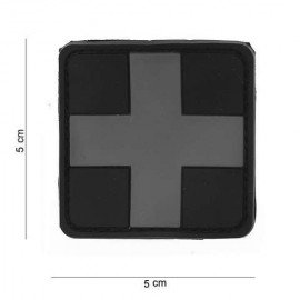 3D PVC Grey Cross Patch (101 Inc)