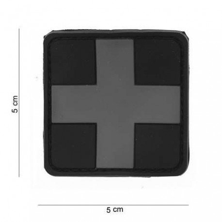 101 INC Patch 3D PVC Croix Grise (101 Inc) AC-WP4441203527 Patch en PVC
