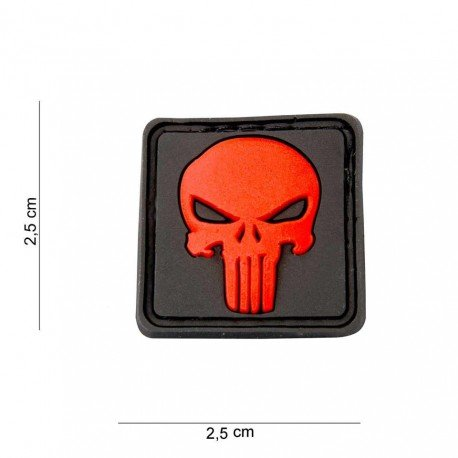101 INC Patch 3D PVC Punisher Rouge (101 Inc) AC-WP4441205588 Patch en PVC