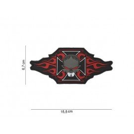 Patch PVC Maltese Cross Skull