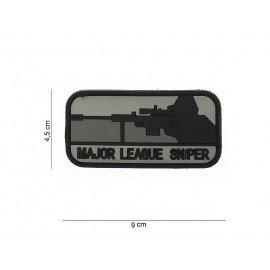 3D PVC-Patch Major League Sniper Schwarz & Grau (101 Inc)