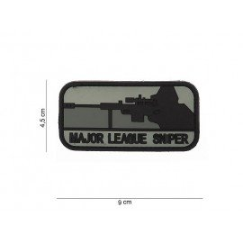 Patch 3D PVC Major League Sniper Noir & Gris (101 Inc)