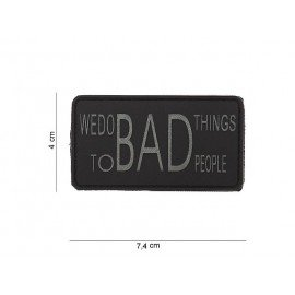 101 INC Patch 3D PVC We Do Bad Things Gris & Noir (101 Inc) AC-WP4441003534 Patch en PVC