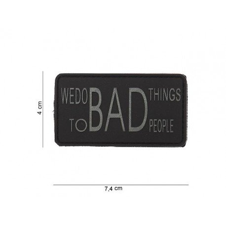 101 INC Patch 3D PVC We Do Bad Things Gris & Noir (101 Inc) AC-WP4441003534 Patch en PVC