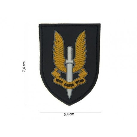 101 INC Patch 3D PVC Who Dares Wins (101 Inc) AC-WP4441303585 Patch en PVC