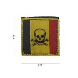 3D PVC Belgium Skull Patch (101 Inc)