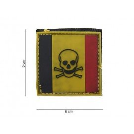 Patch 3D PVC Belgique Skull (101 Inc)