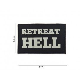 Patch PVC Retreat Hell Blanc & Noir (101 Inc)