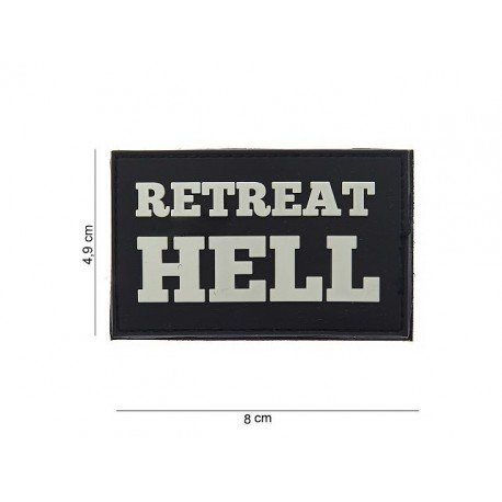 101 INC Patch PVC Retreat Hell Blanc & Noir (101 Inc) AC-WP4441803591 Patch en PVC