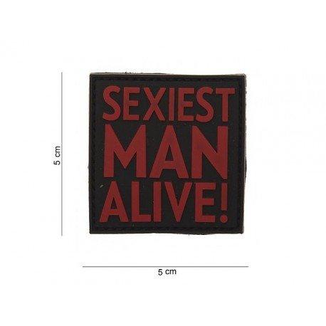 101 INC Patch 3D PVC Sexiest Man Alive Rouge & Noir (101 Inc) AC-WP4441203541 Patch en PVC