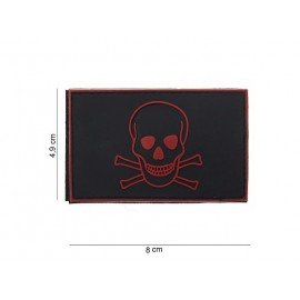Pirate Patch PVC Black and Red