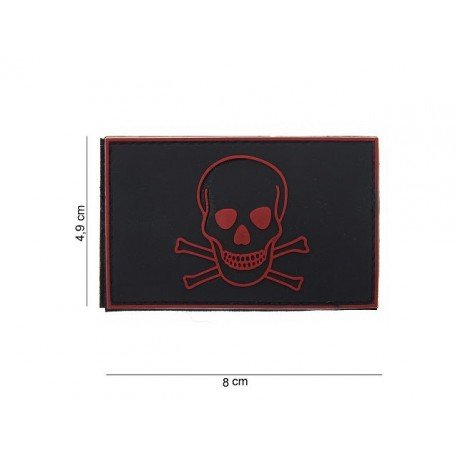 101 INC Patch PVC Pirate Rouge & Noir AC-WP4441803590 Patch en PVC