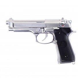 WE WE M92 Chrome RE-WEGGB0340TS Pistolet à gaz - GBB