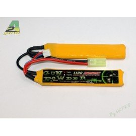 GunPowder Batterie LiPo 7.4v Double 1100mAh AC-GP9112012 Batteries