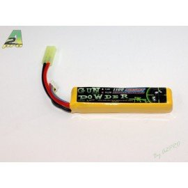 LiPo Battery 11.1 v Single 1100 mAh (GunPowder)