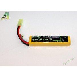 LiPo Battery 11.1v Single 1100 mAh (GunPowder)