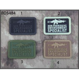 Emerson 3D PVC Patch M249 Spezialist Schwarz (Emerson) AC-EMBD5484 PVC Patch