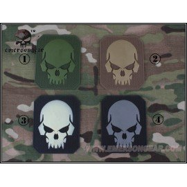 PVC Skull Gray 3D Patch (Emerson)
