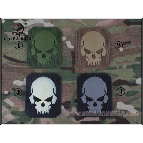 Emerson Patch 3D PVC Skull Gris (Emerson) AC-EMBD5550C Patch en PVC
