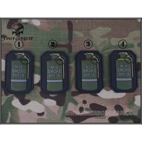 Emerson Patch 3D PVC Grenade M18 Violet (Emerson) AC-EMEM5525A Patch en PVC