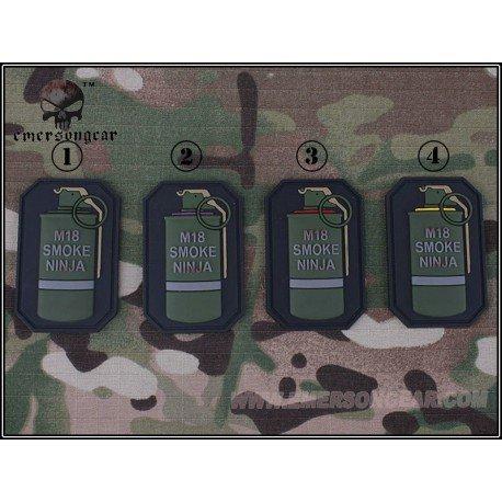 Emerson Patch 3D PVC Grenade M18 Rouge (Emerson) AC-EMEM5525B Patch en PVC