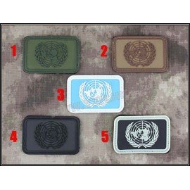 PVC Patch United Nation Black