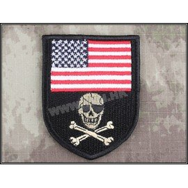 Patch USA Skull Noir