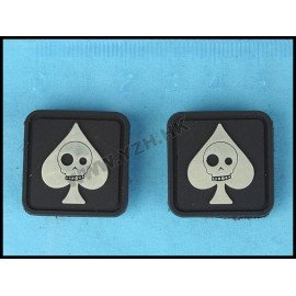 Patch 3D PVC As de Pique Squelette (Emerson)